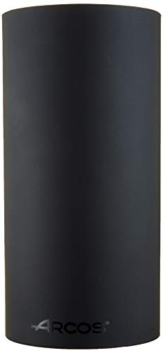 Arcos Tacos, Bloque Universal para Cuchillos hasta 20 cm, Hecho de Caucho Termoplástico de 225 mm, Color Negro