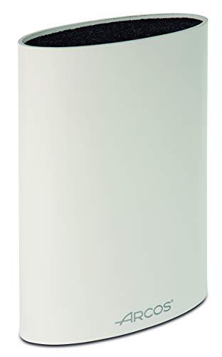 Arcos Tacos, Bloque Universal para Cuchillos hasta 20 cm, Hecho de Caucho Termoplástico 220 x 160 x 65 mm, Color Blanco