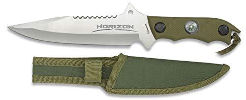 Albainox - 32104 - Cuchillo Modelo Horizon. Satin. Hoja: 18 - Herramienta para Caza, Pesca, Camping, Outdoor, Supervivencia y Bushcraft