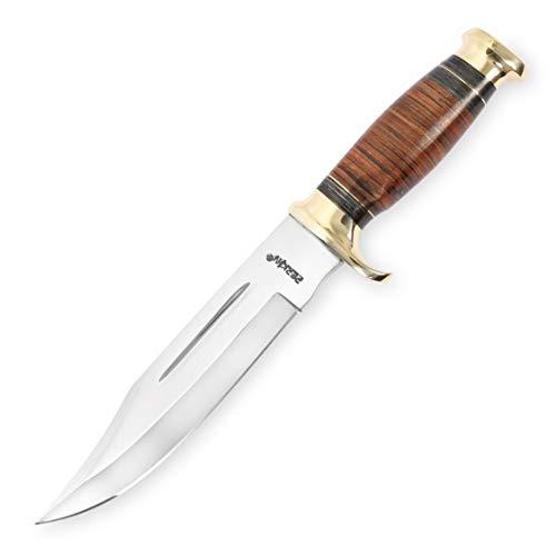 Perkin Knives Cuchillo de Caza Hecho a Mano con Vaina Fija Cuchillo Cuchillo Mango de Cuero