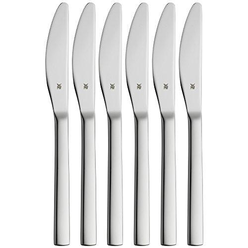 WMF Nuova - Juego de 6 cuchillos de fruta (18 cm, acero inoxidable Cromargan pulido, apto para lavavajillas)
